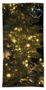 02 Xmas Trees At Canalside And Seneca One Tower Dec2015 Beach Towel
