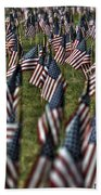 03 Flags For Fallen Soldiers Of Sep 11 Beach Towel