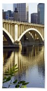 0333 3rd Avenue Bridge Minneapolis Beach Towel