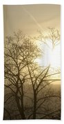 04 Foggy Sunday Sunrise Beach Towel