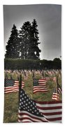 05 Flags For Fallen Soldiers Of Sep 11 Beach Towel