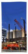 05 Medical Building Construction On Main Street Beach Towel
