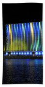 06 Grain Elevators Light Show 2015 Beach Towel