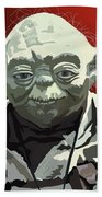 068. Do Or Do Not. There Is No Try Beach Towel by Tam Hazlewood
