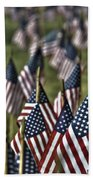 07 Flags For Fallen Soldiers Of Sep 11 Beach Towel