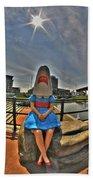 07 Shark Girl Beach Towel