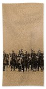 180 Degrees Panorama Troops Passing In Review No Date Or Locale Restored Color Added 2008 Beach Towel