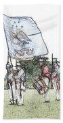 1812 Soldiers Beach Towel