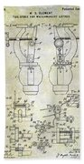 1902 Watchmakers Lathes Patent Beach Towel