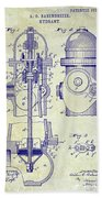 1903 Fire Hydrant Patent Beach Towel