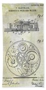 1908 Pocket Watch Patent  Beach Towel