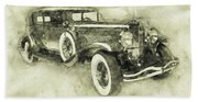 1928 Duesenberg Model J 3 - Automotive Art - Car Posters Beach Sheet
