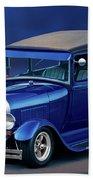 1928 Ford Tudor Sedan II Beach Towel