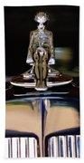 1934 Packard Hood Ornament 3 Beach Towel