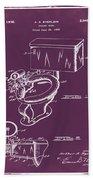 1936 Toilet Bowl Patent Chalk Beach Towel