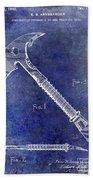 1940 Fireman Ax Patent Beach Towel