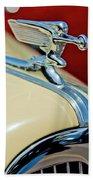 1940 Packard Hood Ornament Beach Towel by Jill Reger