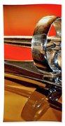 1947 Buick Roadmaster Hood Ornament Beach Towel