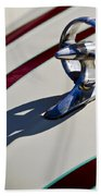 1949 Custom Buick Hood Ornament Beach Towel