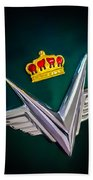 1954 Chrysler Imperial Sedan Hood Ornament Beach Towel