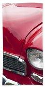 1955 Chevrolet Bel Air Hood Ornament Beach Towel