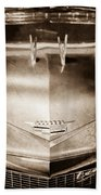 1956 Cadillac Eldorado Biarritz Convertible Hood Ornament - Emblem Beach Towel