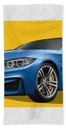 2016  B M W  M 3  Sedan With 3 D Badge  Beach Towel