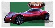 2025 Bugatti Aerolithe Concept With 3 D Badge  Beach Towel