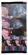 21 Dukes John Wayne Cardboard Cutout Collage Tombstone Arizona 2004-2009 Beach Towel