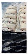 3 Master Tall Ship Beach Towel