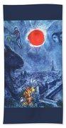 4dpictdswq Marc Chagall Beach Towel