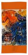 4dpictfdrew3 Marc Chagall Beach Towel