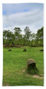 9 Ladies Stone Circle, Stanton Moor, Peak District National Park Beach Towel