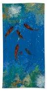 9 Pesciolini Rossi Beach Towel by Guido Borelli