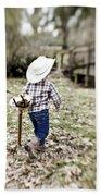 A Boy And His Horse Beach Sheet