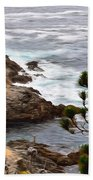 A Grey Day At Big Sur 2 Beach Towel