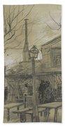 A Guinguette Paris, February - March 1887 Vincent Van Gogh 1853 - 1890 Beach Towel