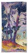A Pine Grove Beach Towel by Henri-Edmond Cross