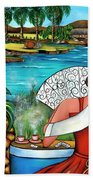 A Place To Remember Beach Towel