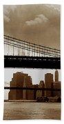 A Tale Of Two Bridges Beach Towel by Joann Vitali