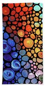 Abstract 1 Beach Towel by Sharon Cummings