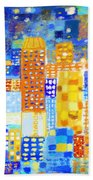 Abstract City Beach Towel