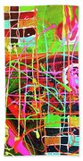Abstract Colorful Beach Towel
