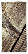 Abstract Detail Of A Wooden Old Board Beach Towel
