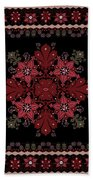 Abstract Ethnic Shawl Floral Pattern Design Beach Towel