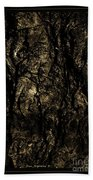 Abstract Gold And Black Texture Beach Towel
