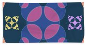 Abstract Mandala Pink, Dark Blue And Cyan Pattern For Home Decoration Beach Sheet