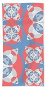 Abstract Mandala White, Pink And Blue Pattern For Home Decoration Beach Towel