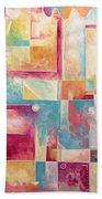 Abstract Pop Art Style Unique Pastel Painting Contemporary Art By Megan Duncanson Beach Towel