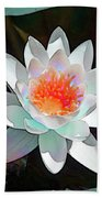 Abstract Waterlily Beach Towel